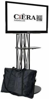 10. CiERA EZ Fold All-In-One 28-Inches to 70-inch TV StandTV Stand with Shelf