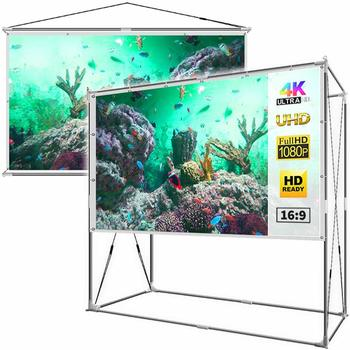 11. JaeilPLM 120-Inch 2-in-1 Projector Screen for Indoor and Outdoor Use