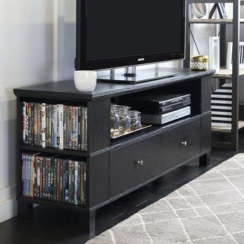 14. New 59 Inch Black Television Stand with Side and Front Storage