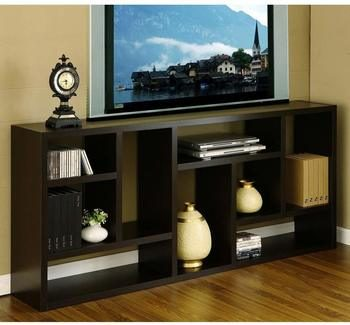 7. 70-inch TV Stand Great Display Bookshelf and Cabinet