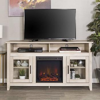 7. New 58 Inch Highboy Fireplace Wide TV Stand