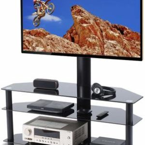 8 TAVR Swivel Floor 65-inch TV Stand
