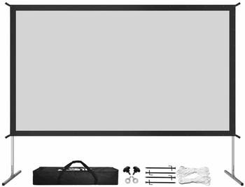 8. 120-inch Projector Screen with Stands