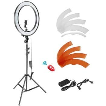 Neewer 18-inch Outer Dimmable SMD LED Ring Light Lighting Kit with 78.7 inches Light Stand