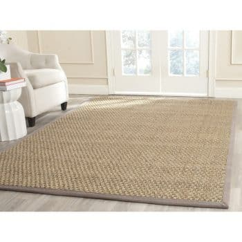 Safavieh Natural Fiber Collections BasketWeaver Natural and Grey Summer Seagrass Area Rug