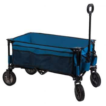Timber Ridge Camping Wagon Folding Garden Cart Collapsible Utility Shopping Trolley