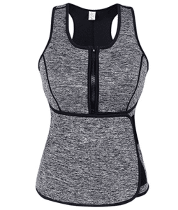 1. SlimmKISS Neoprene Sweat Vest for Women with Adjustable Waist Trimmer Belt