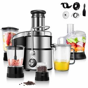11. COSTWAY Electric 5-in-1 Professional Food Processer and Juicer Combo