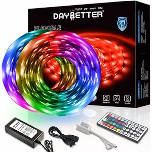 11. DAYBETTER Led Strip Lights with 44 Keys Supply Flexible Color Changing 5050 Light Strips Kit for Home