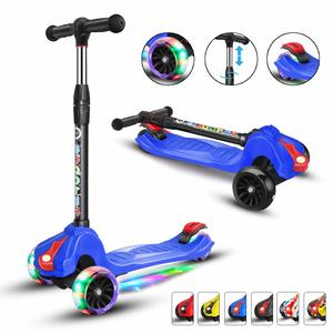 11. XJD Scooters for Kids Scooter for Boys Girls 4 PU Flashing Wheels Toddlers Scooter 3 to 14 Years Old