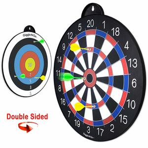 12. GIGGLE N GO Reversible Magnetic Dartboard for Kids