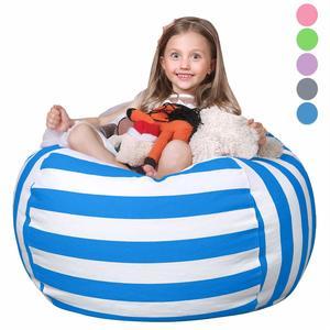 12. WEKAPO Stuffed Animal Storage Bean Bag Chair Cover