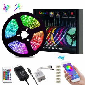 13. L8star Color Changing Rope Lights with Bluetooth Controller Sync to Music Apply for TV