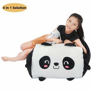 13. Panda Stuffed Animal Bean Bag Toy Storage