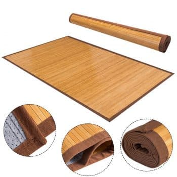"Giantex 60""×96"" Bamboo Area Rug Floor Carpet Natural Bamboo Wood Indoor Outdoor"