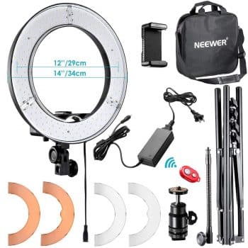 "Neewer RL-12 LED Ring Light 14"" outer"