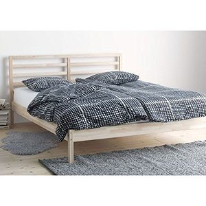 2. Ikea Tarva Full Size Bed Frame Solid Pine Wood Brown