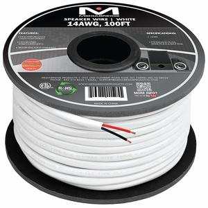 2. Mediabridge Speaker Wire (100 Feet, White) - ETL Listed & CL2 Rated for In-Wall Use