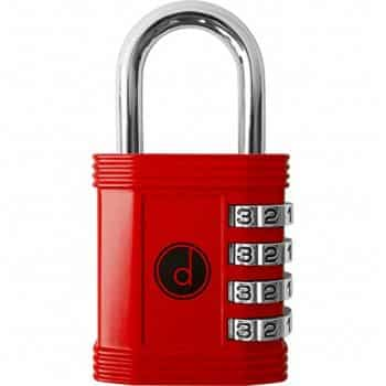 Padlock - 4 Digit Combination Lock for Gym, Sports