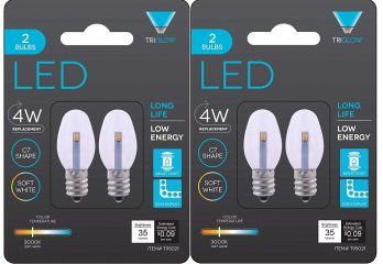 Triangle Bulbs 0.5-Watts C7 LED Night Light Bulb clear 2-Pack (4 bulbs)