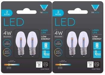 Triangle Bulbs 0.5-Watts C7 LED Night Light Bulb clear 2-Pack (4 bulbs)