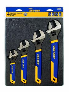 3. IRWIN VISE-GRIP Adjustable Wrench Set