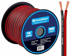 3. InstallGear 14 Gauge AWG 100ft Speaker Wire Cable - Red
