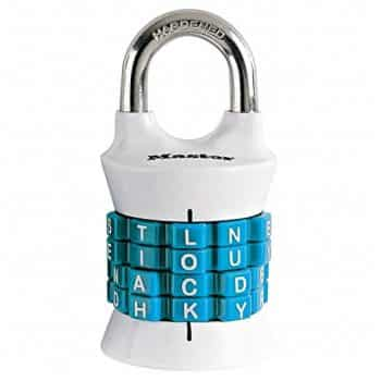Master Lock 1535DWD Set Your Own Word Combination Lock