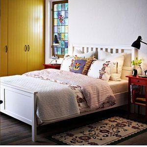 4. Ikea Hemnes Queen Bed Frame White Wood