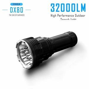 4. LXH IMALENT DX80 8PCS Cree XHP70 32000Lumen LED Flashlight