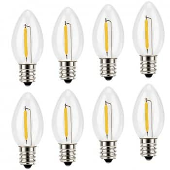 Night Light Bulbs C7 Candelabra bulb  Emotionlite LED Night Bulb  with E12 Chandelier Base