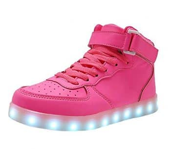 WONZOM FASHION LED Light Up Shoes USB Flashing Sneakers for Toddler