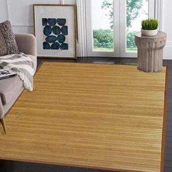 Venice Natural Bamboo Floor Mat Bamboo Area Rug Indoor Outdoor