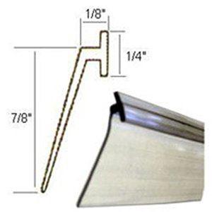 6. Clear Vinyl Framed Shower Door Drip Sweep