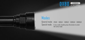 6. IMALENT DX80 32000 Lumens 8pcs LED Flashlight