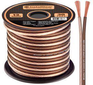 6. InstallGear 12 Gauge Speaker Wire Copper (30-feet)