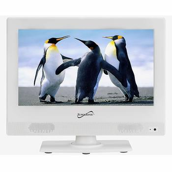 6. Supersonic SC-1311 White 13.3-Inch LED Widescreen HDTV