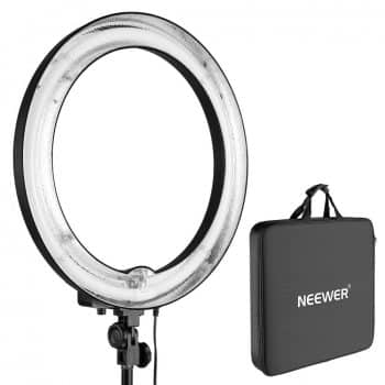 "Neewer 18""Outer 14""Inner Un-dimmable Fluorescent Ring Light -75W 5500K for Portrait Photography"
