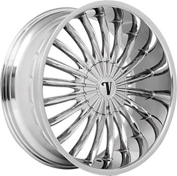 "22"" Inch Velocity VW11 Chrome Wheels Rims Only"