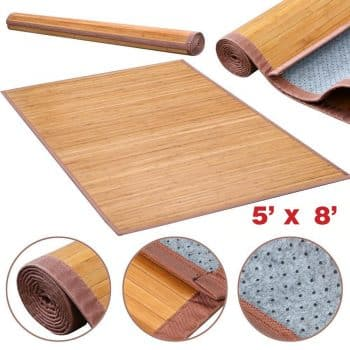 """5""""×8"""" Contemporary Natural Bamboo Rug"""