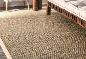 nuLoom Elijah Seagrass with Border Area Rug