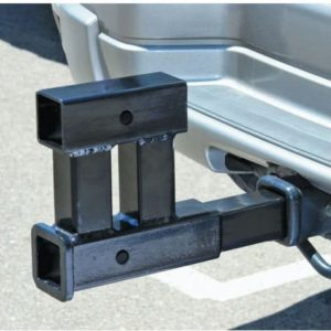 "Dual 2"" Receiver Trailer Hitch Extension Extender Rise Drop Adapter Bike Racks"