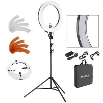 "Neewer 18"" LED Ring Light Dimmable for Camera Photo Video"