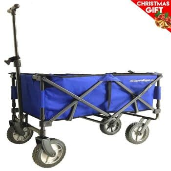 EasyGoWagon 2.0 -Folding Wagon - Collapsible Heavy Duty Utility Pull Wagon - Fits in Trunk of Standard Car