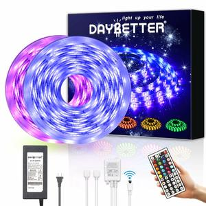 8. DAYBETTER Led Strip 32.8ft Waterproof Light Strips Kit with 44 Keys IR Remote Controller Power Supply for Home