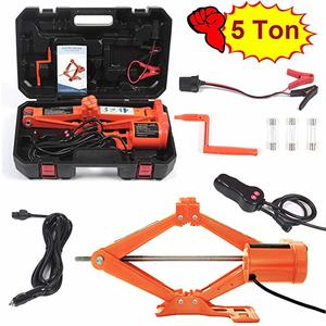 8. Electric Car Floor Jack 5 Ton All-in-one Automatic 12V Scissor Lift Jack Set