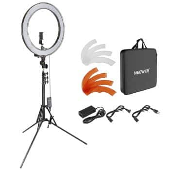 Neewer Upgraded 18-inch Outer Dimmable SMD LED Ring Light with 79-inch Stand