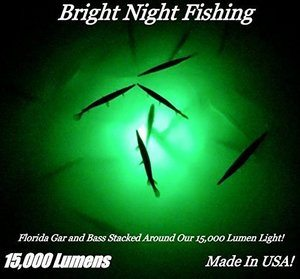 9- Bright Night Fishing Light - Made of Industrial PVC Clear Plastic