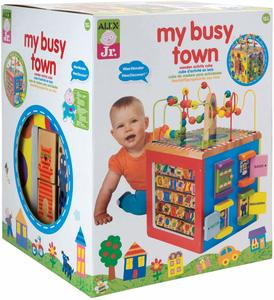1. ALEX Toys Discover My Busy Town Wooden Activity Cube