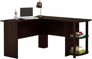 1. Office L-Shaped Desk with 2 Shelves by Ameriwood